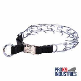Strong Pinch Collar with Quick Release Buckle - 1/8 inch (3.25 mm) link diameter