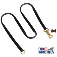 Police Tracking Nylon Dog Leash Features Massive Solid Brass Snap with Smart Lock