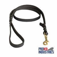 Handcrafted Braided Leather Dog Leash for Walking and Training