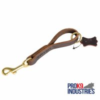 Easy Quick Grab Pull Tab Fully Leather Dog Leash