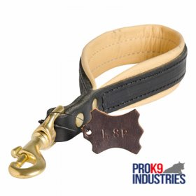 Short Leather Dog Leash with or without Support Material