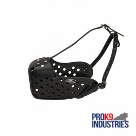 Leather Dog Muzzle for Agitation Work