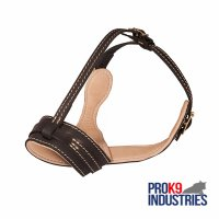 Royal Anti-Barking Leather Dog Muzzle with Nappa Leather Lining