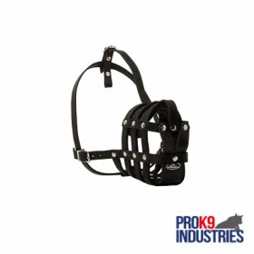 Walking and Training Leather Cage Dog Muzzle