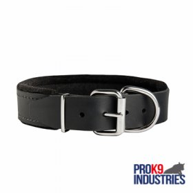 Dog Durable Padded Leather Collar 40 mm