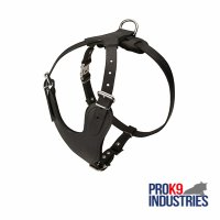 Adjustable Leather Dog Harness for Attack / Agitation Training