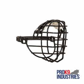 quick deployment coated Wire Cage Dog Muzzle with single Adjustable Strap