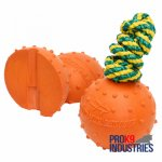 Water Rubber Dog Ball with String for Training and Playing in Water - Large
