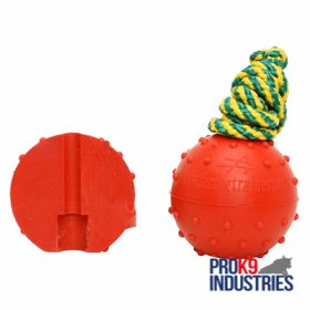 Solid Rubber Dog Training Water Ball - Medium