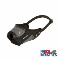 Protection Training Dog Muzzle Made of Nylon and Leather