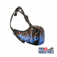 Ergonomic Design Leather Dog Muzzle for Agitation Training