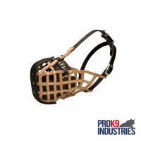Basket-Like Dog Muzzle Leather