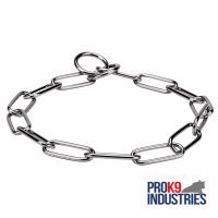 Fur Saver Dog Choke Collar 'Iron Trainer' - 1/6 inch (4.0 mm) link diameter