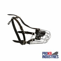 Wire Basket Dog Muzzle for Comfortable Walking and Training