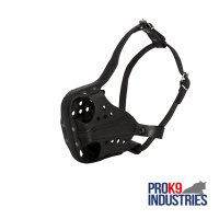 Leather Dog Muzzle for Agitation Training and Military Service