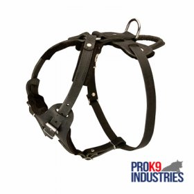Protection Leather Dog Harness for Attack / Agitation Dog Training
