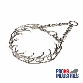 Dog Training Pinch Collar Chrome Plated - 1/8 inch (3.25 mm)