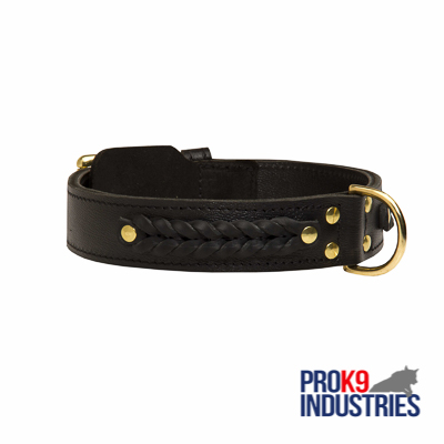 Incredible Design Dog Braided Leather Collar