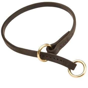 Dog Obedience Training Choke  Leather Dog Collar