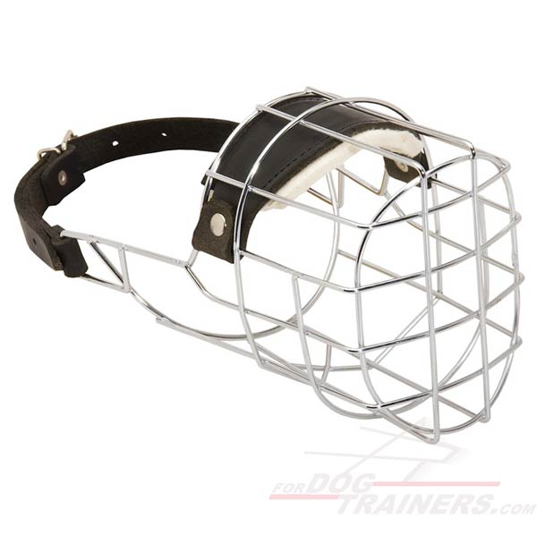 Wide metal cage muzzle for Large Dog Breed