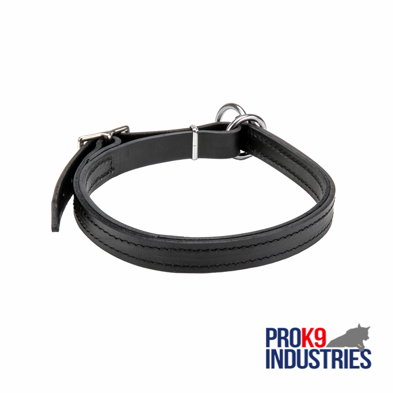 Dog Leather Choke Collar