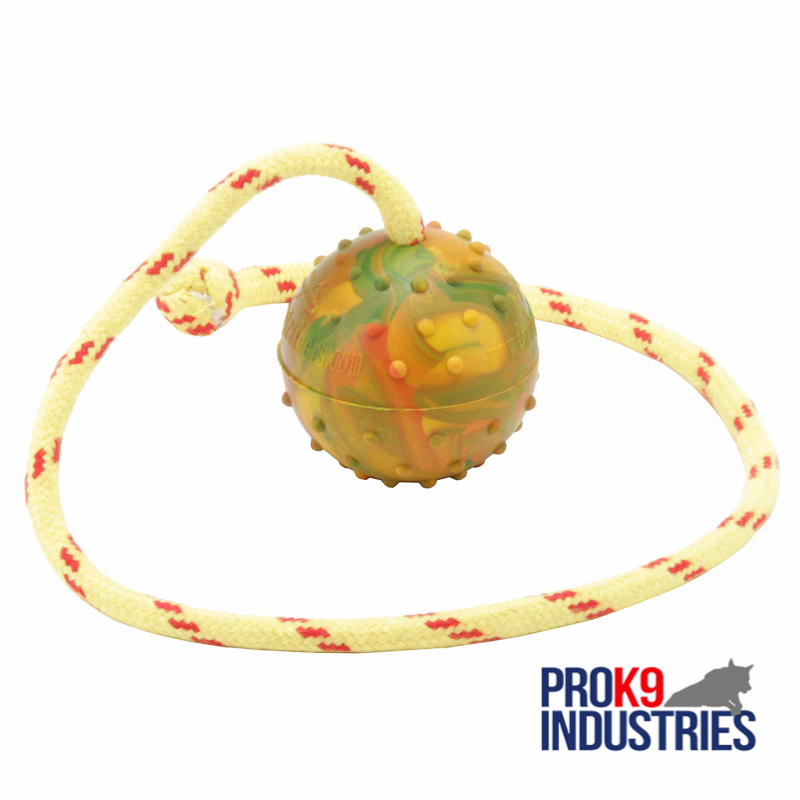 2 1/3 inch (6 cm) Dog training/Reward BALL on string made of High Quality Solid rubber - TT1 Medium
