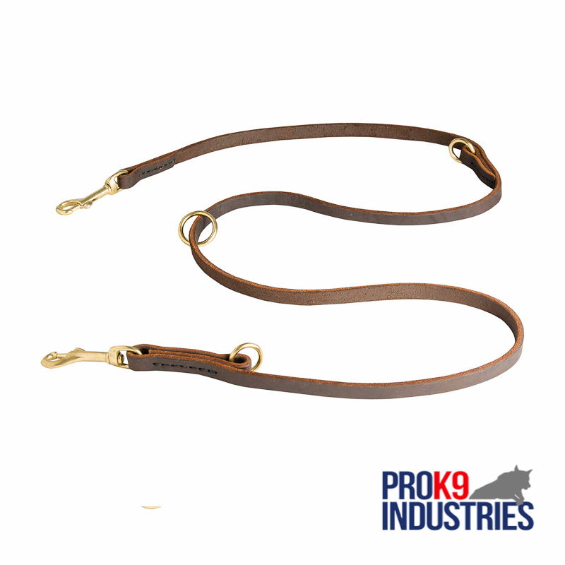Multipurpose Leather Dog Leash for Training, Walking and Patrolling