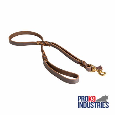 Dog Leather Leash with Comfortable Handle