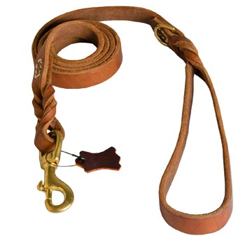 Leather Leash for Dog Successful Schutzhund Training