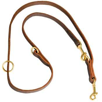 Multipurpose Leather Dog Leash