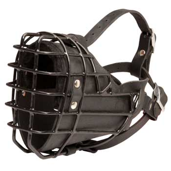 Winter Fully Wire Dog Padded Muzzle Cage